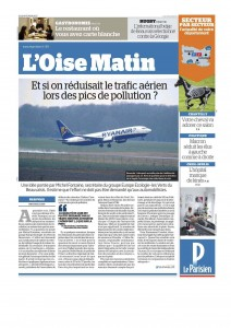 2017 02 09 Le Parisien - Et si on reduisait le trafic aerien lors des pics de pollution